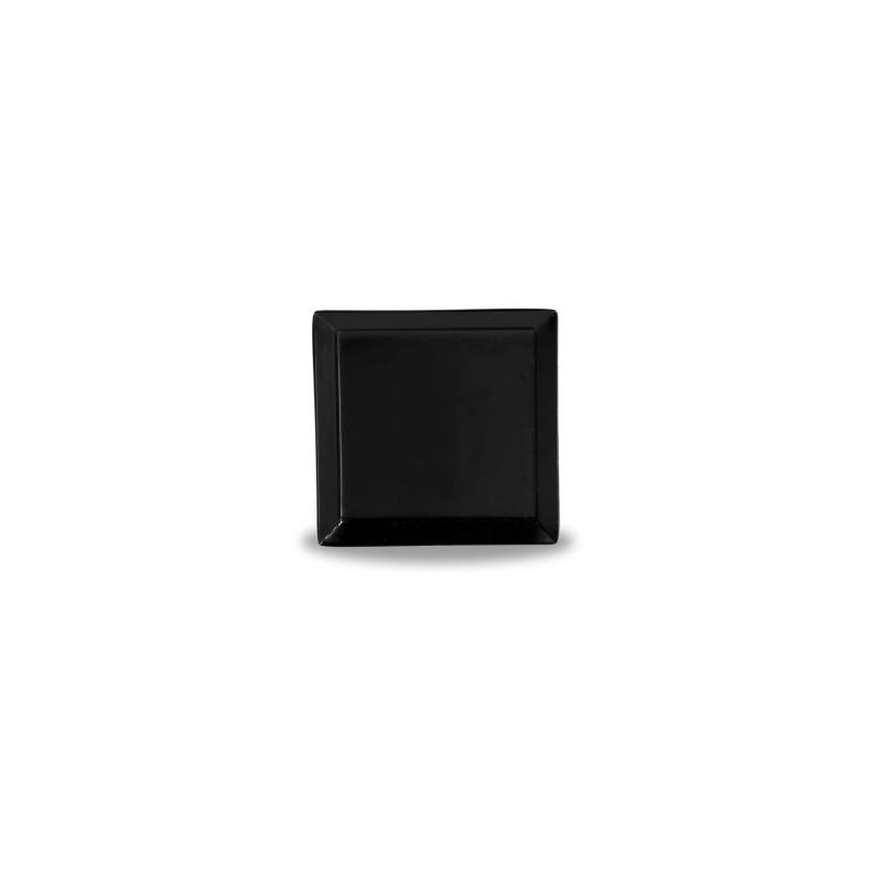 Piattino quadro nero cm 10
