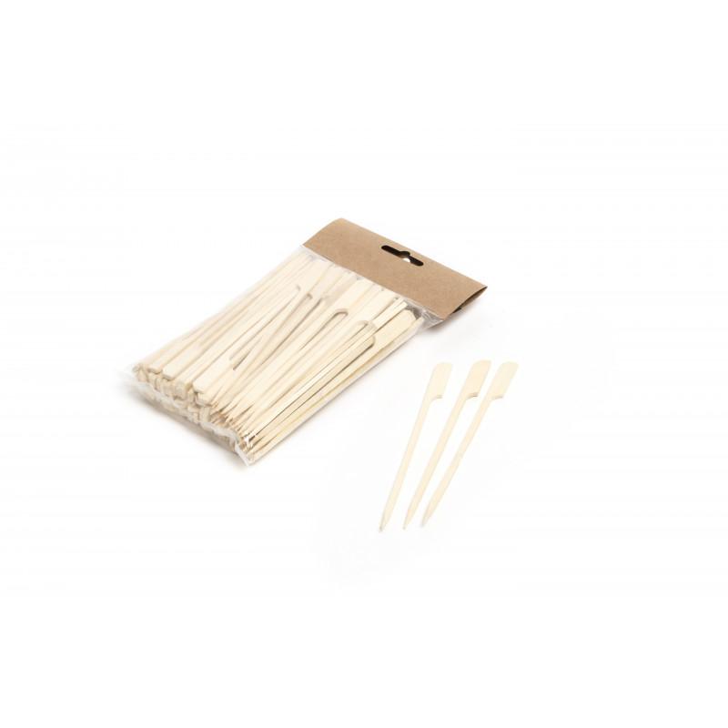 Pack 100 spiedi golf bambu 15 cm