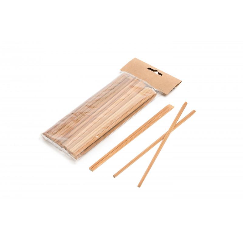 Pack 100 bastoncini bambu tostato 21 cm