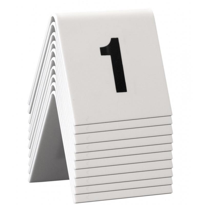 Confezione 10 pz numero tavolo 5x4 1-10
