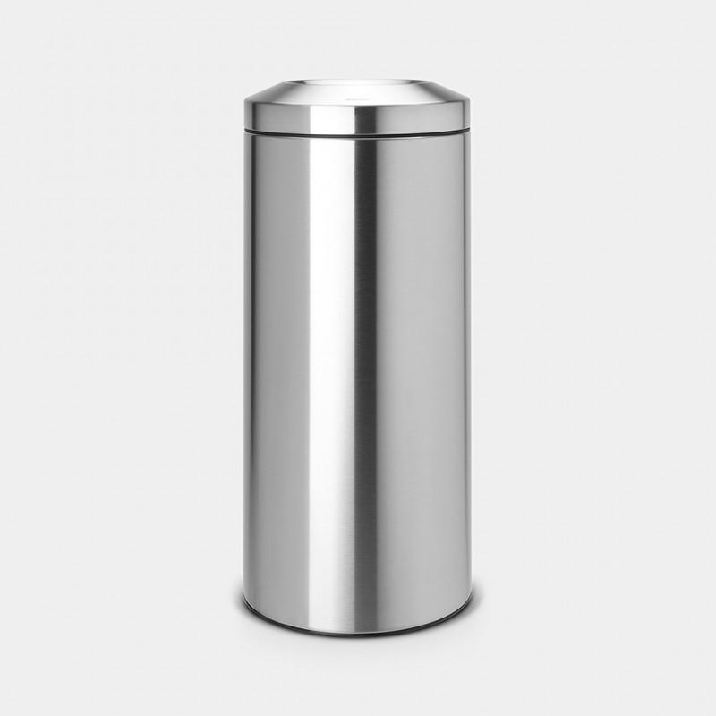 Cestino Ignifugo matt steel 30 Lt