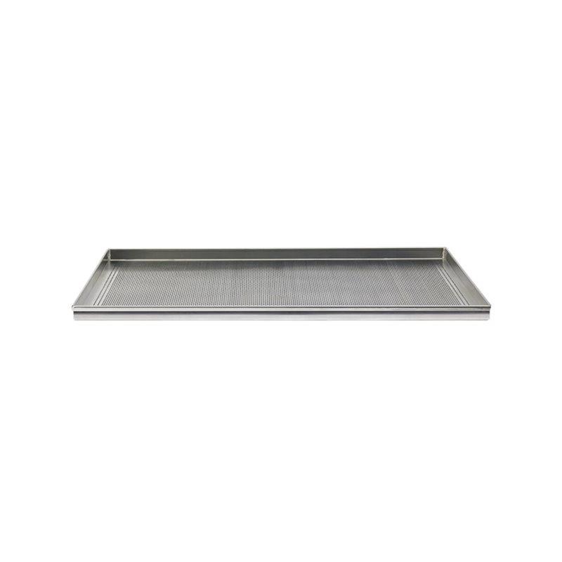Teglia rettangolare microforata 60x40x2h alluminio