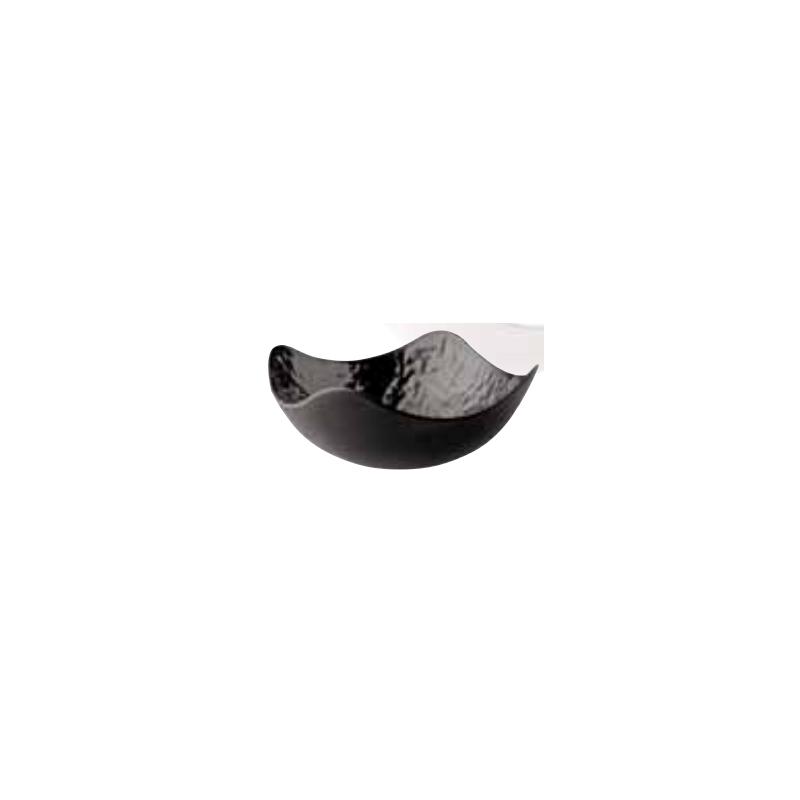 Ciotola quadrata melamina nera