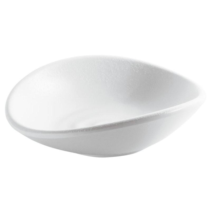 Ciotola ondulata in melamina bianca
