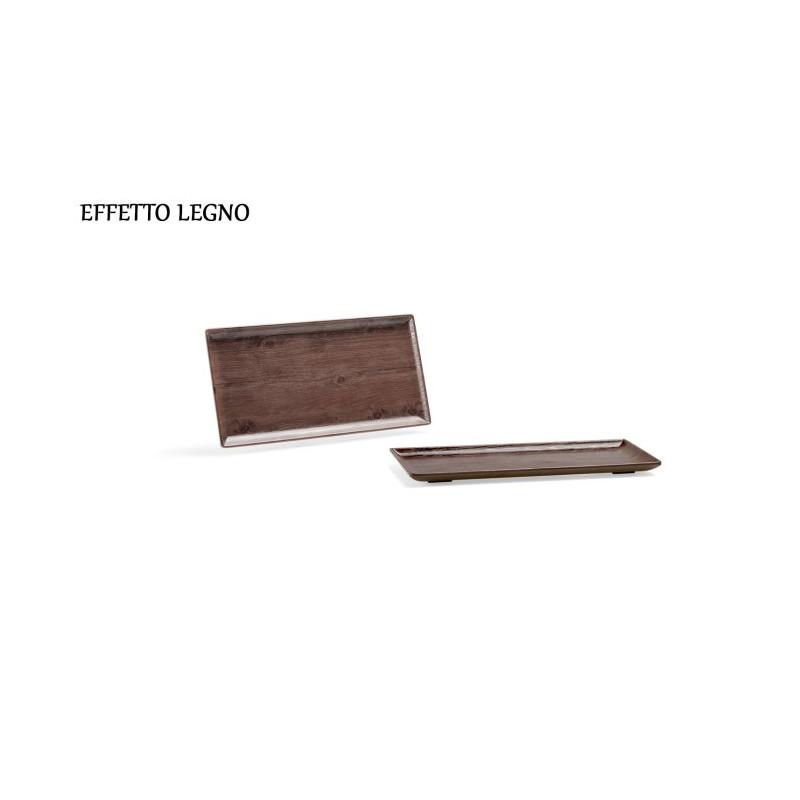 Vassoio purity effetto legno 30x15