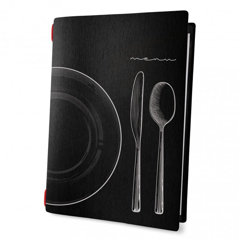 Custom A4 set menu eco nero