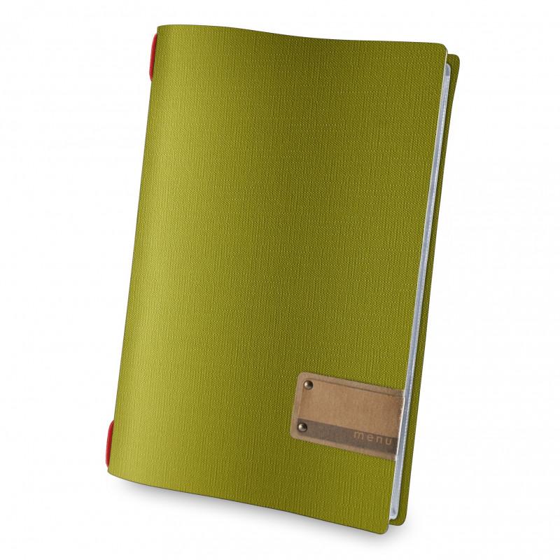 Porta menù A4 menu juta Verde