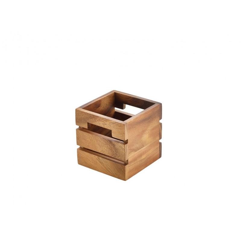 Box in legno acacia  cm 12x12x12