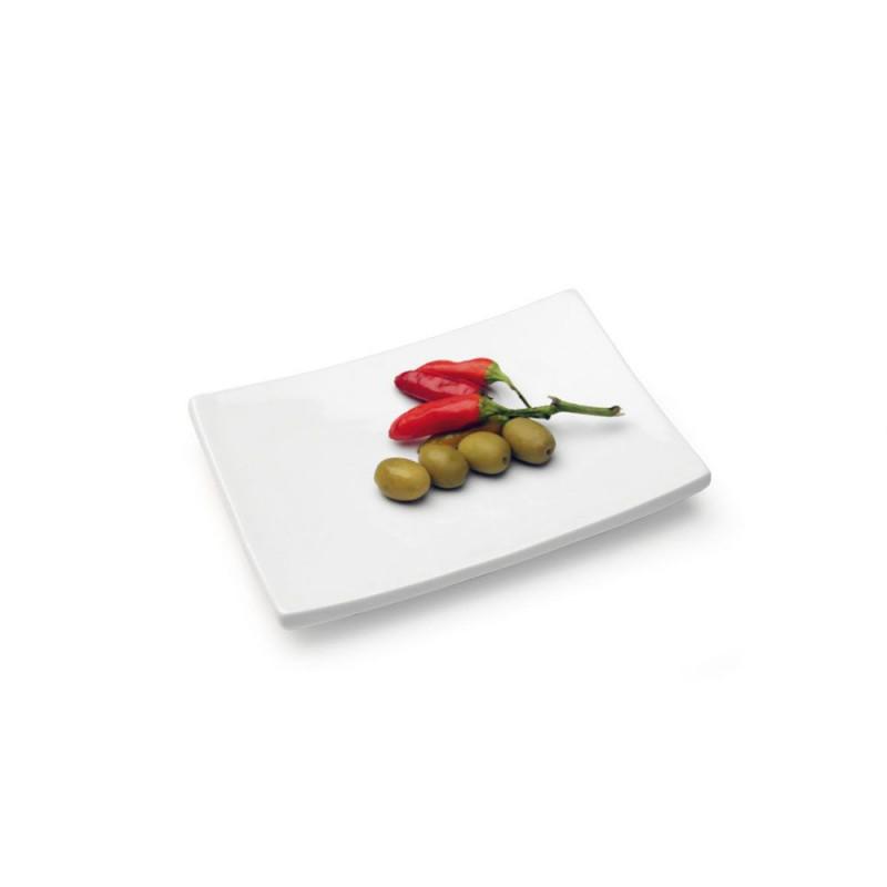 Vassoio per sushi bianco 23x16