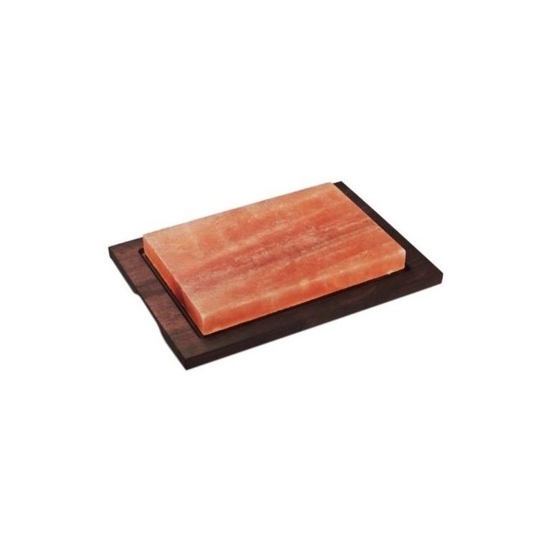 Piastra sale rosa 20x30 base legno wengè