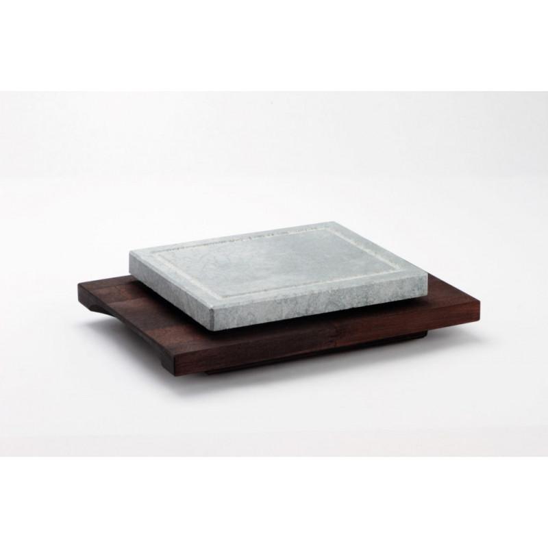 Pietra ollare base legno wengè