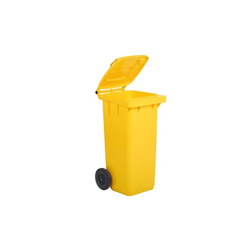 Bidone raccolta differenziata giallo 120 Lt