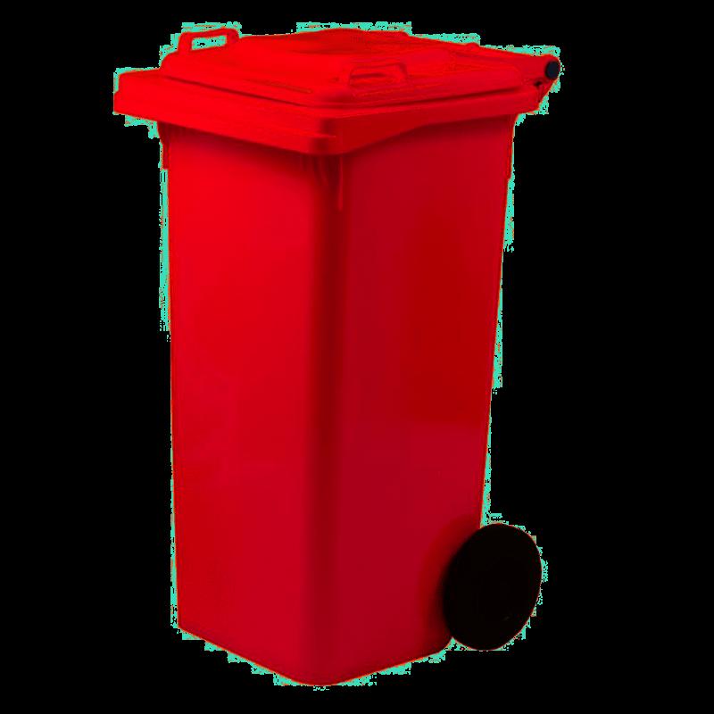 Bidone raccolta differenziata rosso 120 Lt