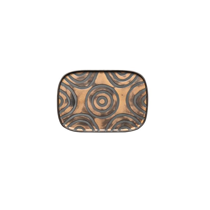 Vassoio rettangolare cm 26x18x1,5 Goldeneye