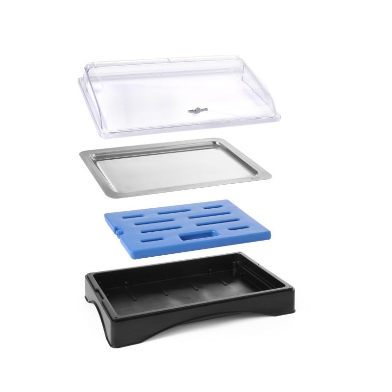 Vassoio con piastra refrigerante Roll Top GN 1/1