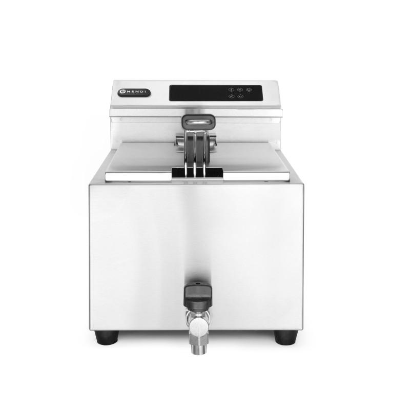 Friggitrice 8 Lt digitale con rubinetti