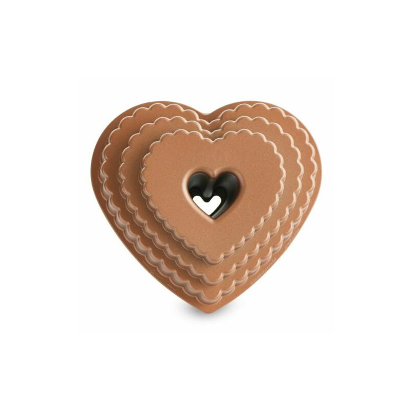 Stampo Bundt Tiered Heart Nordic Ware